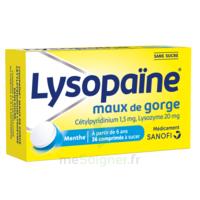 LysopaÏne Comprimés à Sucer Maux De Gorge Sans Sucre 2t/18 à AURILLAC