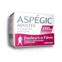 Aspegic Adultes 1000 Mg, Poudre Pour Solution Buvable En Sachet-dose 20 à AURILLAC
