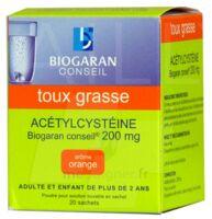 Acetylcysteine Biogaran Conseil 200 Mg Pdr Sol Buv En Sachet B/20 à AURILLAC