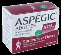 Aspegic Adultes 1000 Mg, Poudre Pour Solution Buvable En Sachet-dose 30 à AURILLAC