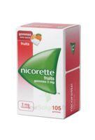 Nicorette 2 Mg Gomme à Mâcher Médicamenteuse Sans Sucre Fruits Plq/105 à AURILLAC