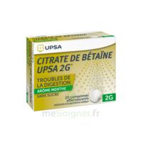 Citrate De Bétaïne Upsa 2 G Comprimés Effervescents Sans Sucre Menthe édulcoré à La Saccharine Sodique T/20 à AURILLAC