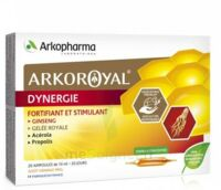 Arkoroyal Dynergie Ginseng Gelée Royale Propolis Solution Buvable 20 Ampoules/10ml à AURILLAC