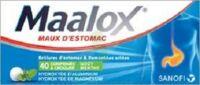 Maalox Hydroxyde D'aluminium/hydroxyde De Magnesium 400 Mg/400 Mg Cpr à Croquer Maux D'estomac Plq/40 à AURILLAC