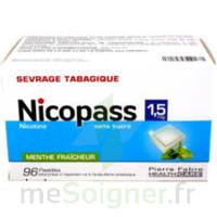 Nicopass 1,5 Mg Pastille Sans Sucre Menthe Fraîcheur Plq/96 à AURILLAC