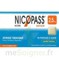 Nicopass 2,5 Mg Pastille Menthe Fraîcheur Sans Sucre Plq/36 à AURILLAC