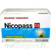 Nicopass 2,5 Mg Pastille Menthe Fraîcheur Sans Sucre Plq/96 à AURILLAC