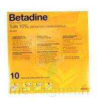 Betadine Tulle 10 % Pans Méd 10x10cm 10sach/1 à AURILLAC