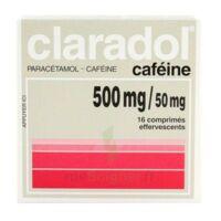 Claradol Cafeine 500 Mg/50 Mg, Comprimé Effervescent à AURILLAC
