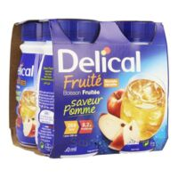 Delical Boisson Fruitee Nutriment Pomme 4bouteilles/200ml à AURILLAC