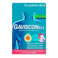 GAVISCONELL Suspension buvable sachet-dose menthe sans sucre 12Sach/10ml à AURILLAC