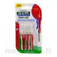 Gum Trav - Ler, 0,8 Mm, Manche Rouge , Blister 4 à AURILLAC
