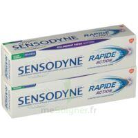 Sensodyne Rapide Pâte Dentifrice Dents Sensibles 2*75ml à AURILLAC