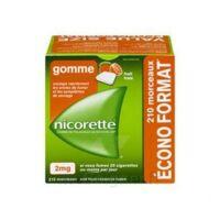 Nicorette 2 Mg Gomme à Mâcher Médicamenteuse Sans Sucre Fruits Plq/210 à AURILLAC